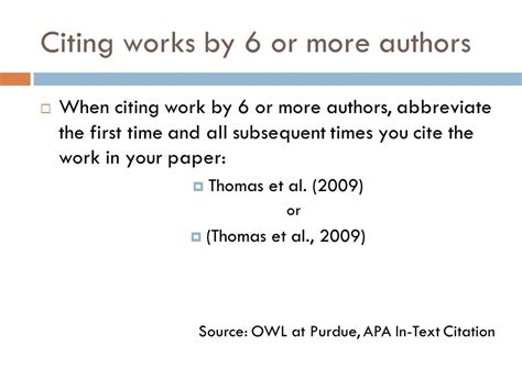 apa format et al writing the literature review in text citations science