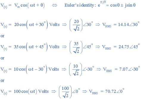 impedance phasor form complex numbers and phasors in polar or rectangular form
