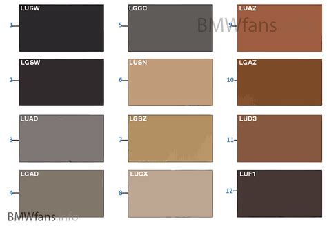 Neutral Upholstery Fabric Sample Chart Upholstery Colors Leather Bmw X3 E83 X3 2