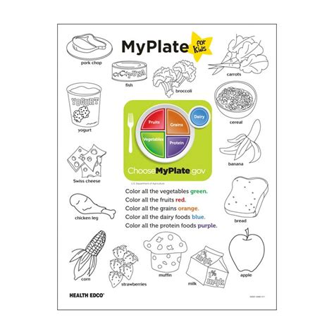 My Plate Worksheet by Myplate Printables Images Search