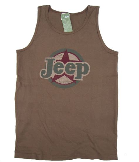 jeep tank top all things jeep s quot jeep circle quot tank top brown