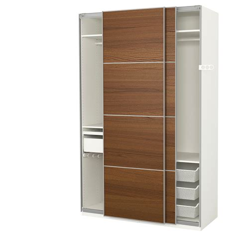 Wardrobe Ikea pax wardrobe white ilseng brown stained ash veneer