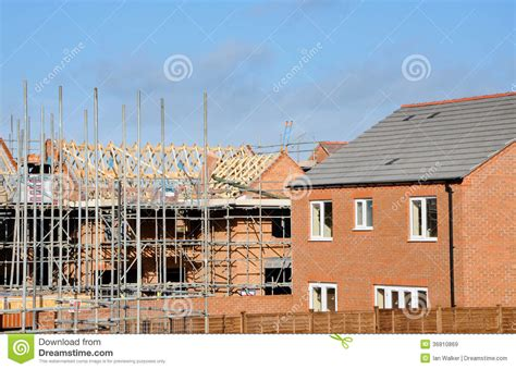 build on site homes modern building site constructing modern homes royalty free stock images image 36810869