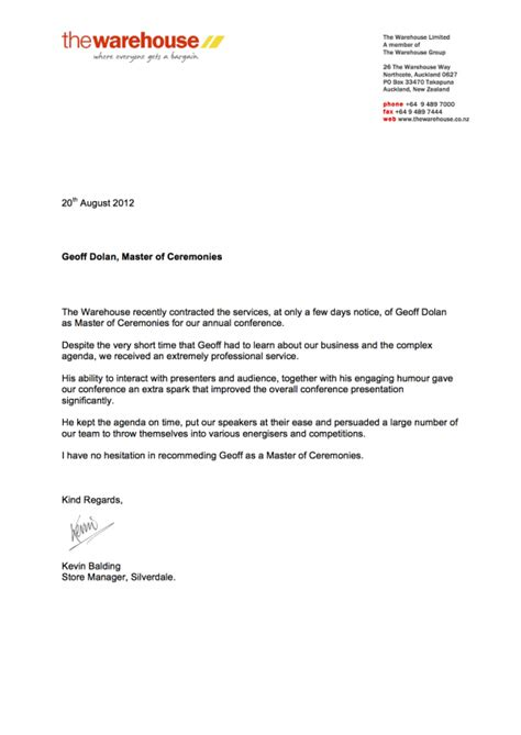 Cover Letter Exles New Zealand Reference Letter Sle New Zealand Cover Letter Templates