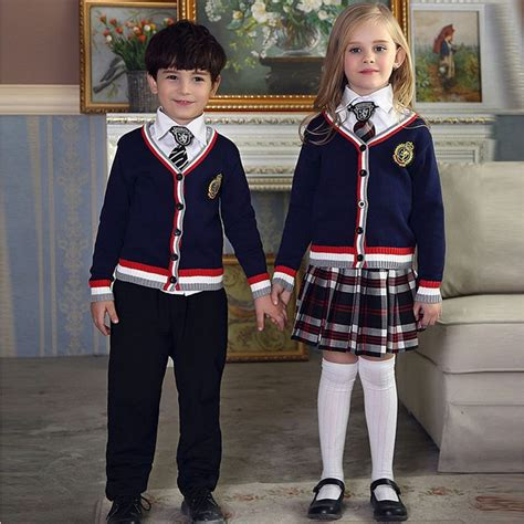 school multiethnic girls different uniform spring autumn fashionable korean british school uniform