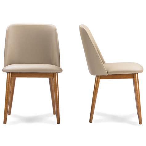 mid century leather chair brim beige leather mid century chair 2 set modern