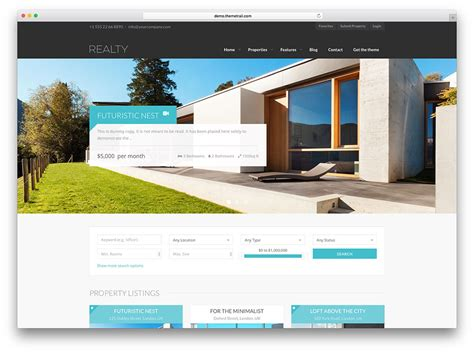 web design from home new homes for sale website design by 40 best real estate wordpress themes for agencies