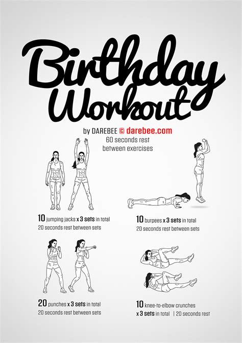 birthday themed workouts birthday workout