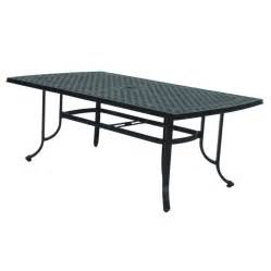 Rectangular Patio Dining Table Shop Allen Roth Shadybrook Cast Bronze Rectangle Patio Dining Table At Lowes