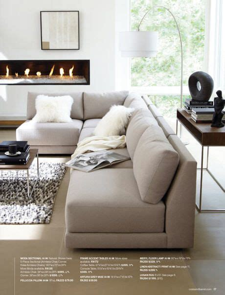 crate and barrel l shaped couch contemporary living room with l shaped sofa and great