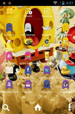 themes android spongebob spongebob 3d android theme for dodol launcher