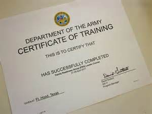 sere 100 certificate template army certificate of template