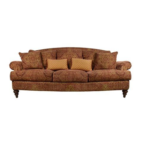 65% OFF   Ethan Allen Ethan Allen Paisley Cushioned Sofa with Toss Pillows / Sofas