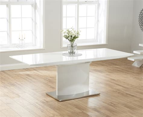 White Gloss Extendable Dining Table Hailey 160cm White High Gloss Extending Dining Table The Great Furniture Trading Company