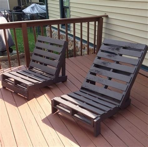 Lawn Chair Lounger Design Ideas Lounge Chairs Out Of Wood Pallets Pallet Wood Projects