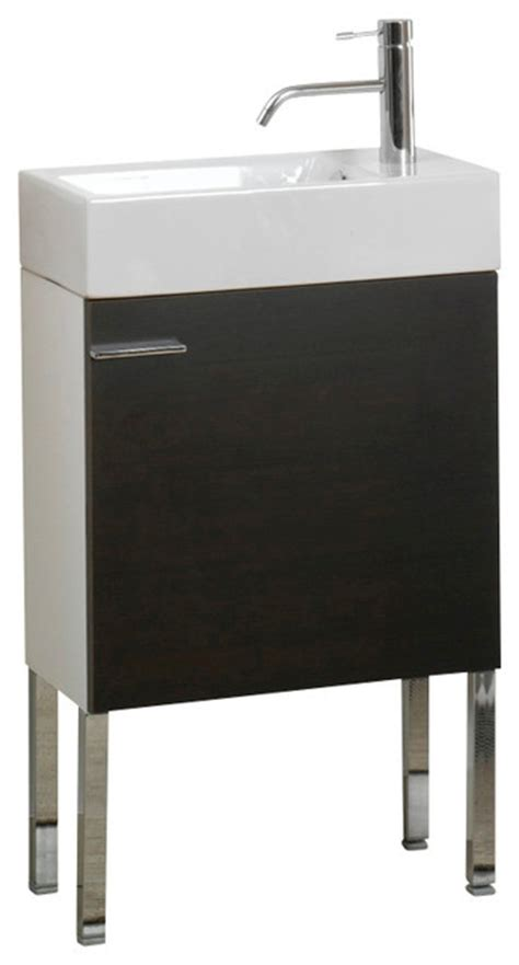 Space Saving Bathroom Vanities Space Saving Bathroom Vanity Set With Ceramic Sink Wenge