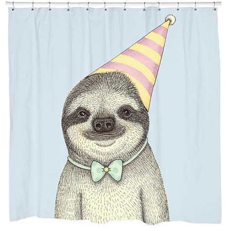 sloth shower curtain