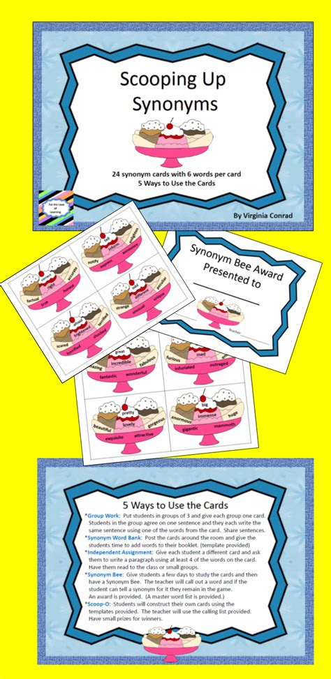 synonym words with o study page scoop up synonyms 5 activities homeschool activities