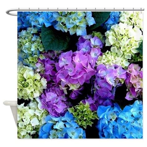 hydrangea shower curtain colorful hydrangea bush shower curtain by costasonlineshop