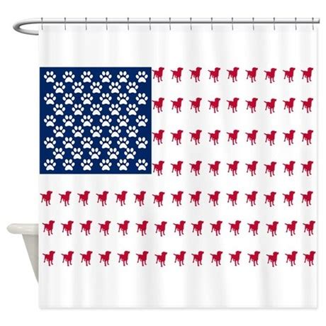 dog shower curtain usa dog flag shower curtain by fungiftsfordogowners