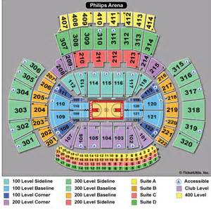 Philips Arena Floor Plan atlanta tickets concerts theatre amp sports ticketcity