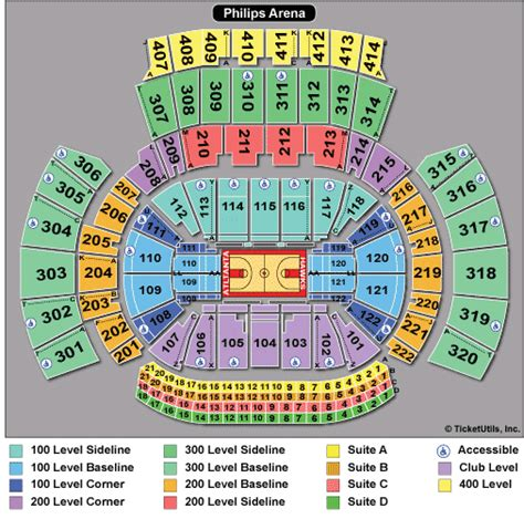 philips arena floor plan atlanta tickets