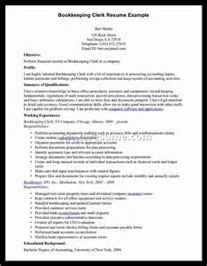 bookkeeper resume exles 28 images bookkeeping resume