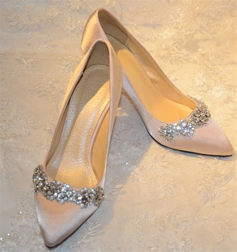 Wedding Shoes Color by Handmade Wedding Shoes Plus Size Satin Pointed Toe Pumps