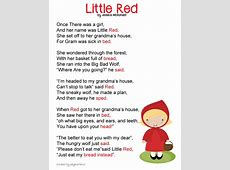 little red riding hood poem-pass something ever time word ... Little Red Riding Hood Lyrics