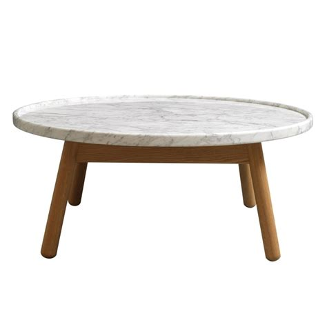 White Marble Top Coffee Table Carve Coffee Table Oak Base White Marble Top By Bethan Gray