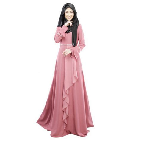 Maxi Dress Musim Dress Baju Wanita Unique Maxi arabian dress solid malaysian traditional dress fashion national trend dubai abaya