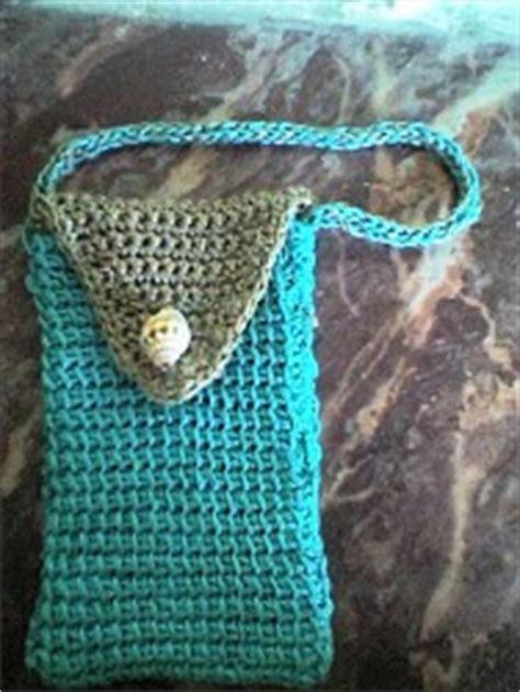 crochet mobile bag pattern tunisian stitch cell phone bag allfreecrochet com