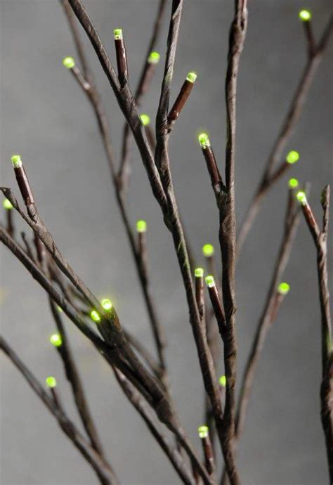 led branches led willow branches in green set of 2
