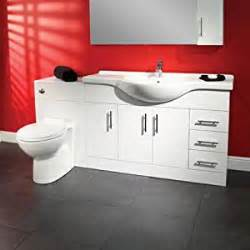 120 bathroom wc combination unit modern white design