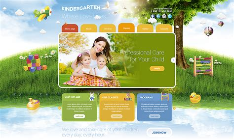 bootstrap themes kindergarten kindergarten bootstrap template id 300111753 from