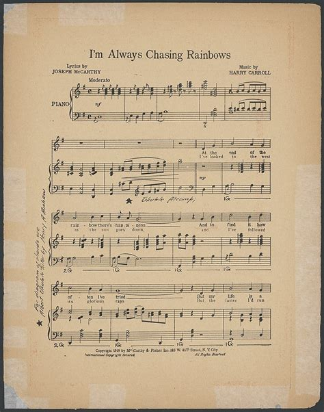 song by i m always chasing rainbows