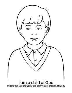 I Am A Child Of God Coloring Page by Children Of God Coloring Page Coloring