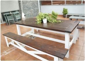 Picnic Table Dining Room by Dark Brown And White Picnic Table Projects For My Hubby