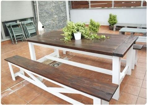 picnic table dining room dark brown and white picnic table projects for my hubby