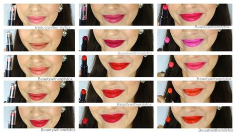 N Megalast Lip Color Sugarplum n mega last lipsticks from top left going