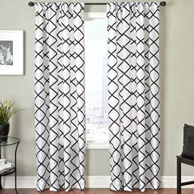 pattern black and white curtains trellis rod pocket curtain panel i jcpenney