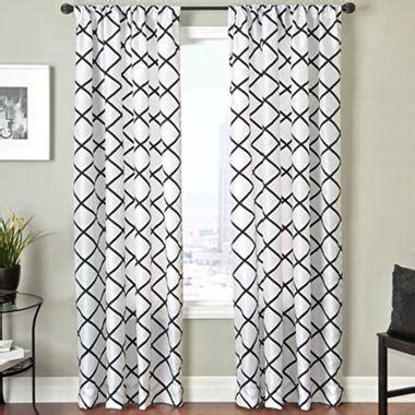 trellis pattern curtains trellis rod pocket curtain panel i jcpenney