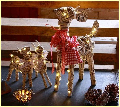 light up reindeer decorations home design ideas