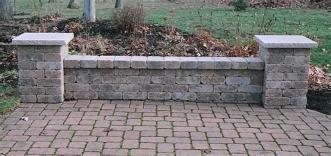 brick seating wall design fences gates and garden walls
