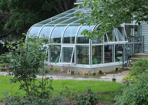 Green House by Curved Eave Aluminum Greenhouse Glass House Llc