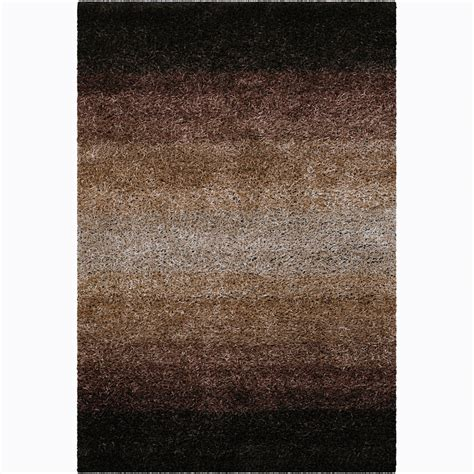 ombre area rugs handwoven brown ombre mandara shag rug 7 9 x 10 6 overstock shopping great deals on