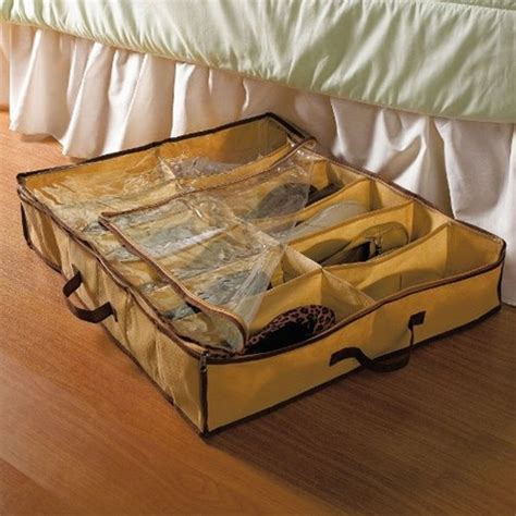 bed shoe storage sunbeam the bed shoe organizer