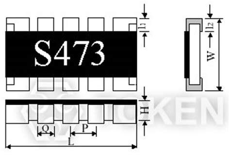 resistor array code chip array resistor network resistors token components