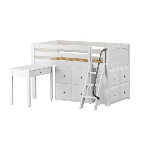 Loft Bed With Study Desk by Kicks Low Loft Bed With Study Desk And 2 Cube Units
