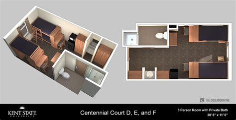Bath Floor Plans Centennial Court E Kent State University